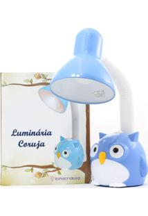 Luminaria Flexivel Coruja Azul - Zona Criativa