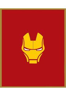 Quadro Decorativo Super Herã³Is- Dourado & Vermelho Escurarte Prã³Pria