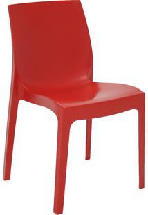 Cadeira Satinada Tramontina 92038040 Summa Alice Empilhável Vermelha