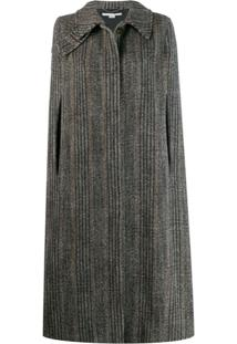 Stella Mccartney Chevron Knitted Cape - Preto