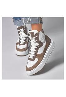 Sneaker Smidt Boots School - Branco & Mouse