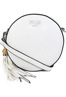 Bolsa Santa Lolla Mini Bag Caviar Feminina - Feminino-Branco