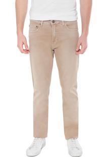 Calça Sarja Calvin Klein Jeans Slim Color Bege