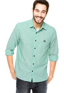 Camisa Forum Regular Fit Listras Verde