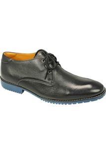 Sapato Sandro & Co Esporte Fino Masculino - Masculino-Preto