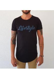 Camiseta Bora Lifestyle Masculina - Masculino-Preto