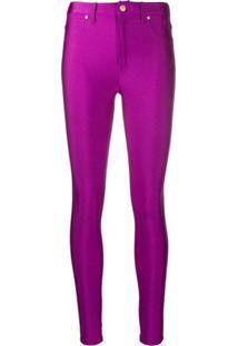 Versace Jeans Couture Calça Skinny Cintura Média - Roxo