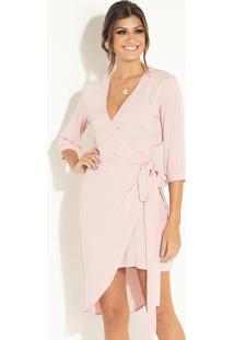 Vestido Curto Rosa Com Sobreposição Removível