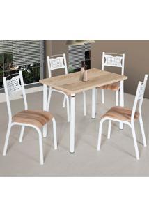 Conjunto De Mesa Com 4 Cadeiras - Poeme - Ciplafe - Capuccino