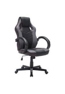 Cadeira Gamer Giratória Trevalla Tl-Cdg-07-6Pr Preta E Marrom