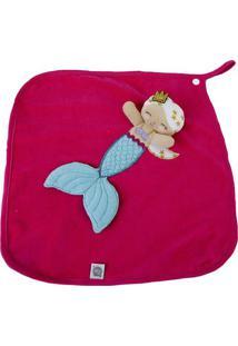 Cobertor Sereia - Vermelho & Azul Claro- 38X41Cm