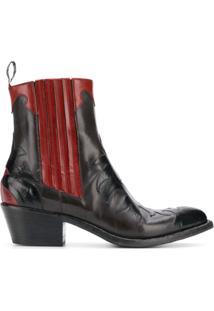 Sartore Ankle Cowboy Boots - Preto