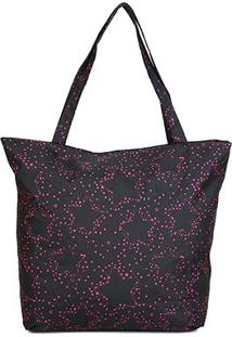 Bolsa Clio Shopping Bag Estrela Feminina - Feminino-Preto