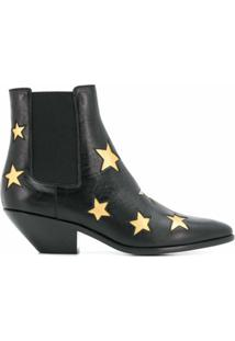 Saint Laurent Ankle Boot West Star - Preto