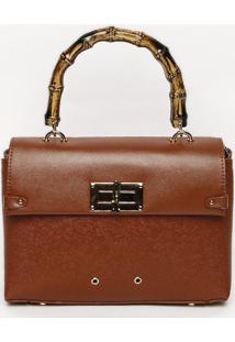 Bolsa Texturizada Com Ilhoses- Marrom & Dourada- 18Xsanta Lolla