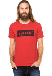 Camiseta Rgx Vintage Vermelha