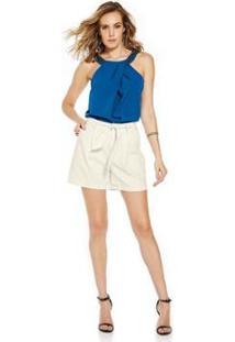Blusa Endless Crepe Feminina - Feminino-Azul