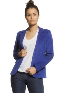 Blazer Unique Alfaiataria Tradicional Azul - Azul - Feminino - Dafiti