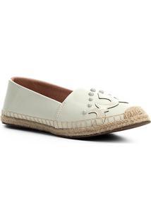 Sapatilha Shoestock Espadrille Western Feminina - Feminino-Off White