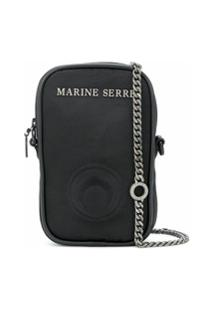 Marine Serre Bolsa Transversal Mini - Preto