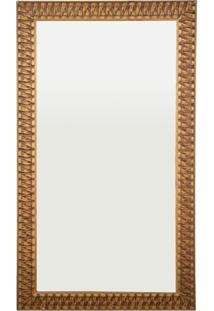 Espelho De Parede Retangular Esmeralda 105 Ect 110X63Cm Dourado