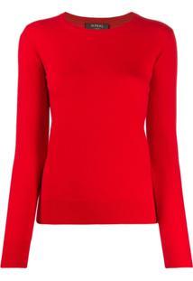 N.Peal Suéter Com Gola Redonda - Vermelho