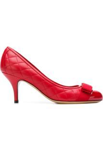 8e91e901e3b28 R  4660,00. Farfetch Sapato Com Salto Feminino Couro Bico Arredondado Tfk Salvatore  Ferragamo ...
