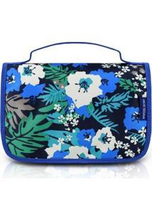 Necessaire De Viagem Jacki Design Nylon - Feminino-Azul+Preto
