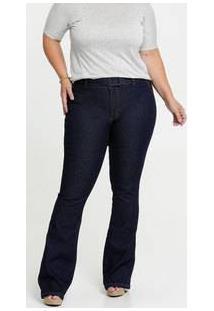 Calça Jeans Flare Feminina Cinto Biotipo