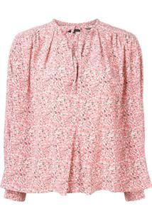 Isabel Marant Blusa Amba Floral - Rosa