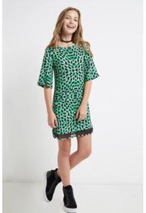 Vestido Telinha Est Ho Pono Ii Est Ho Pono Ii Yoboh Oh, Boy! Feminino - Feminino-Verde