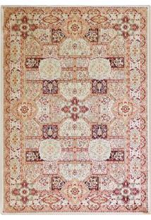 Tapete Isfahan Retangular Veludo 198X250 Cm Creme
