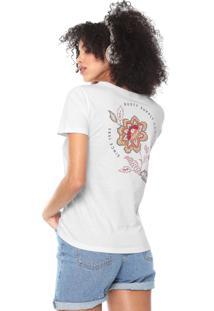Camiseta Rusty Fiori Branca