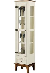 Cristaleira Remy 1 Porta E 1 Gaveta Cor Off White Com Amendoa 180 Cm - 63353 - Sun House