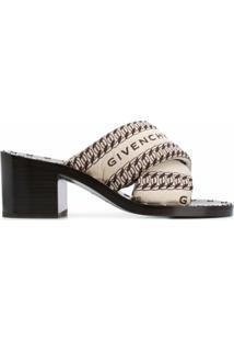 Givenchy Sandália Slip-On Com Logo - Marrom