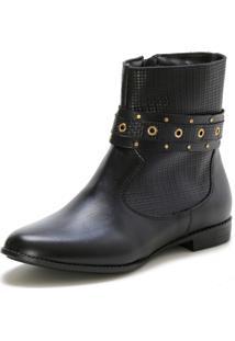 Bota Casual Couro Dia A Dia Doc Shoes Preto - Kanui
