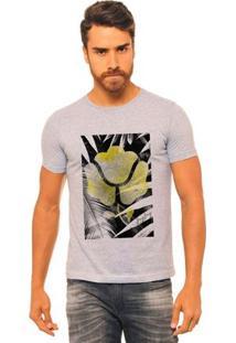 Camiseta Estampada Joss Jay Jay Masculina - Masculino-Cinza