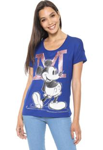 Blusa Cativa Disney Paetê Azul