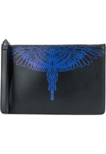 Marcelo Burlon County Of Milan Clutch Com Estampa De Asas - Preto