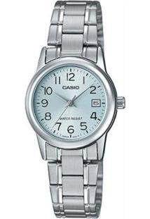 Relógio Feminino Casio Ltpv002D2Budfbr - Unissex-Prata