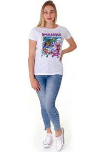 Camiseta Opera Rock T-Shirt Feminina - Feminino-Branco