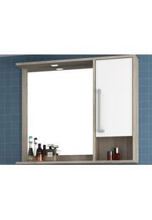 Armário Para Banheiro Luise Barrique/Branco Bosi