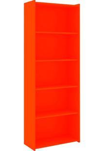 Estante Para Livros Biblioteca M Esm 201 Laranja - Móvel Bento