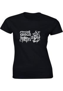 Camiseta Algodão Kronoz Feminina Preta