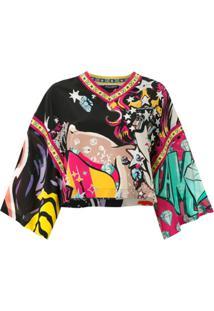 Dolce & Gabbana Blusa Ampla De Seda Estampada - Estampado