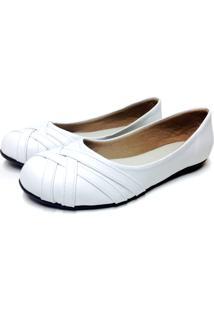 Sapatilha Buffone Comfort Trançada Branca