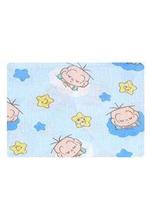 Fronha Bebê Masculina Azul Cebolinha Baby - Turma Da Mônica - Tamanho Único - Azul