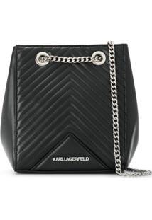 Karl Lagerfeld Bolsa Saco Klassik Matelassê - Preto