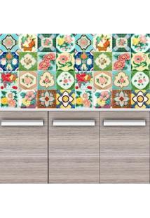 Adesivo Azulejos Flores E Frutos (15X15Cm)