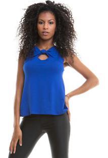 Blusa Lisa Cavada Azul